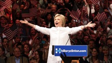 Clinton secures historic nomination for US president