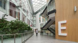 Southmead's atrium clock cost £250,000.
