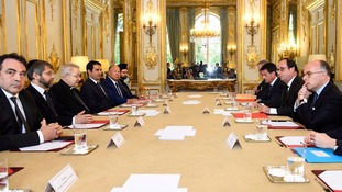 Representatives of religious communities meet Francois Hollande.