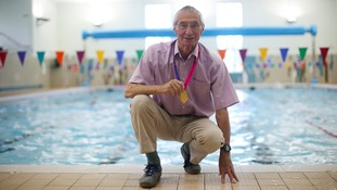 European champion, 86, encouraging people to take up swimming