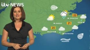 Amanda Houston has the latest forecast for the east of the ITV Meridian region