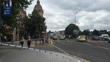 A6 London Road in Leicester is blocked outbound