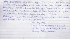 Note left at scene
