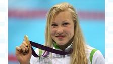 100m Breast stroke Olympic Gold medallist Ruta Meilutyte