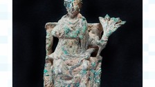 The figure of the Roman goddess Ceres uncovered in South Shields