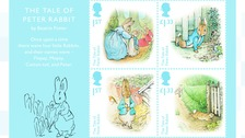 Beatrix Potter's stamp on UK letters