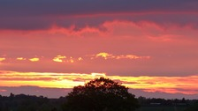 Sunset in Toddington, Bedfordshir
