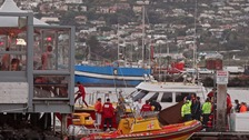 Rescuers at Hout Bay, South Africa