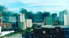 "Crews say large rubbish fire in Cardiff was ""started deliberately"""