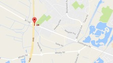 The body was discovered in a tent in the woods near to the A46 junction with Doddington Road in Lincoln