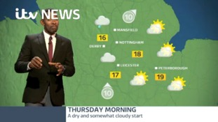 East Midlands Weather: A cloudy start, with outbreaks of occasionally heavy rain