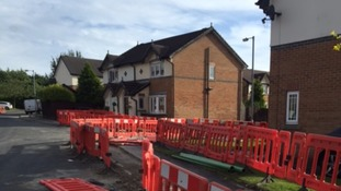 The barriers around the Henshall home