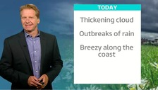 Simon has Thursday's ITV Meridian weather