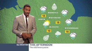 East Midlands Weather: Heavy rain, turning brighter later