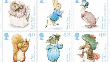 Peter Rabbit in his famous blue jacket