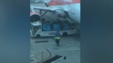 easyJet 'appalled' at bags being chucked from plane