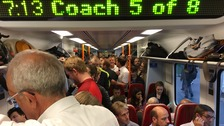 More than a third of passengers stand on rush hour trains