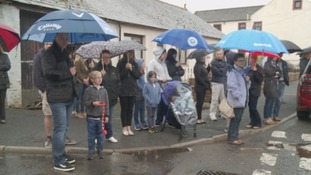 Residents of Ecclefechan came out to line the high street