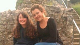 Aylisha (left) with her sister Cliona.