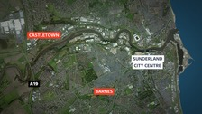 map of Sunderland