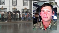 Mourners line streets for D&G soldier's funeral