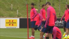 Barcelona have been training at the National Football Centre in Burton