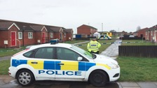 Scene of the murder where Jodie Betteridge was killed