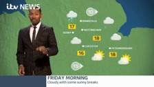 Des Coleman has the latest weather forecast for the East Midlands