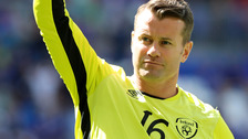 Shay Given announces his retirement from international football.