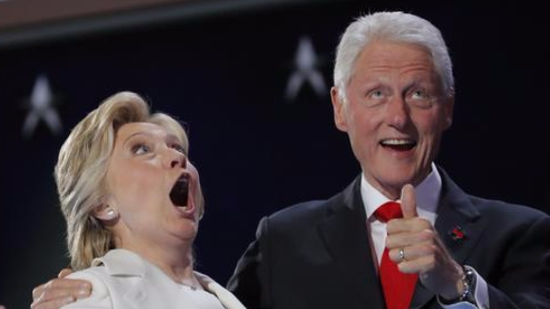Clintons React With Childlike Glee To Balloon Finale Itv