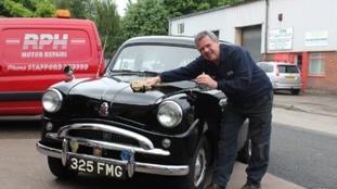 Ray Herritts with his Austin Standard 10. The motor will feature alongside other classic cars this weekend.