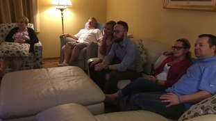The Democrat candidate's speech appeared to sway her doubters in the Giles household.