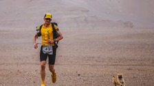 Marathon runner adopted by stray dog in desert race