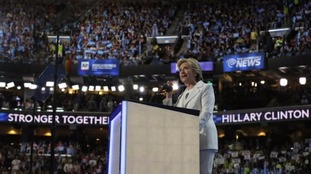 Hillary Clinton's message looked to emphasise unity among Americans.