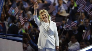 The Democrat candidate begins her battle for the White House in the face of extremely negative personal ratings.