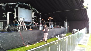 Sound check at the festival, which starts tonight