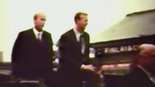 Footage of World Cup winners Bobby and Jackie Charlton
