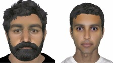 E-fits of suspects wanted over RAF Marham attempted abduction.