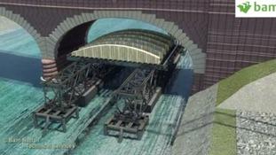 Animation shows next phase of repairs on flood-damaged Leeds bridge