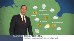 East Midlands Weather: Turning drier overnight with scattered cloud