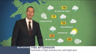 West Midlands Weather: Isolated showers dying away leaving a dry night