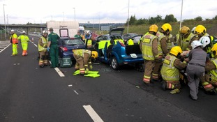Police advise drivers to avoid A1 after two crashes