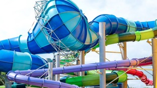 The slides, all different, are up to 120 metres long.