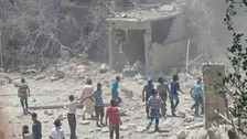 Maternity hospital in Syria bombed in 'direct hit'