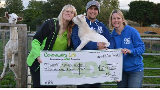 Cheque presentation to animal charity