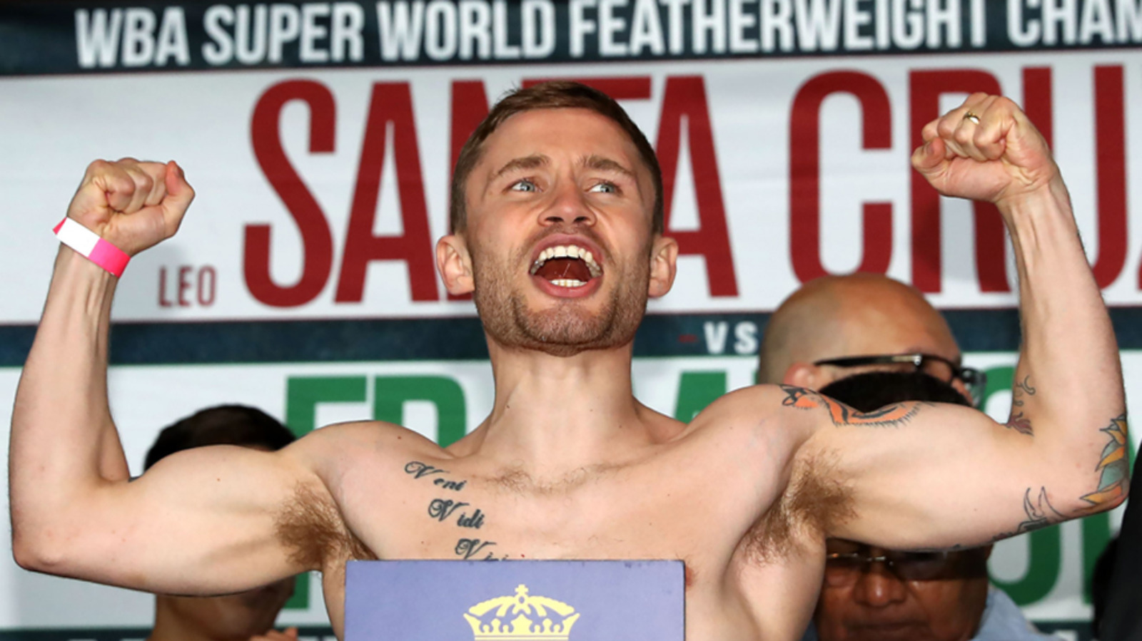 IN PICS: Frampton and Santa Cruz weigh in for title bout | UTV - ITV News
