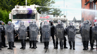 Police at the parade last year.