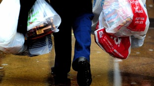 Plastic bag use down as shoppers avoid 5p charge