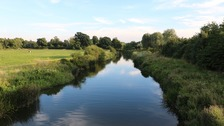 The River Nene at Nassington near Peterborough in Cambridgeshire.