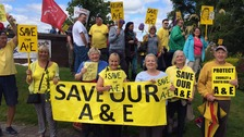 Protest against Chorley Hospital A&E remaining shut